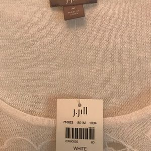 J.Jill white light long sleeve sweater